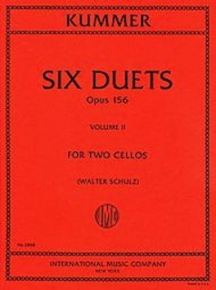 International Music Company Kummer (Solow): Six Duets, Op. 156, Vol. 2 (2 cellos)