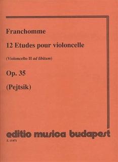 HAL LEONARD Franchomme, Auguste: 12 Etudes Op.35 for Cello (Cello 2 ad libitum)