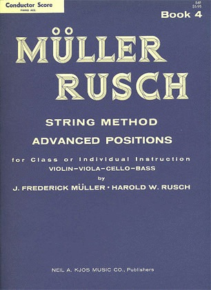 Muller, J.F. & Rusch, H.W.: (Score) String Method, Bk.4 (piano accompaniment)