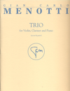 HAL LEONARD Menotti, Gian Carlo: Trio for Violin, Clarinet & Piano