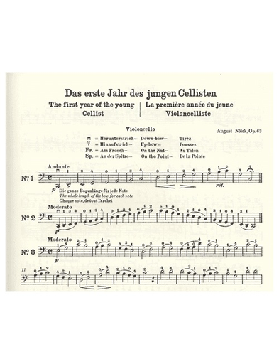 Nolck, August: The First Year of the Young Cellist, op. 63 (cello & piano)
