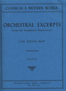 International Music Company Zimmerman, Fred: Orchestral Excerpts Vol.7 (bass)
