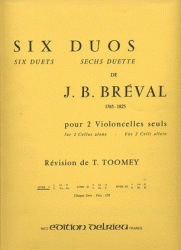 Edition Delrieu Breval, J.B.: Six Duets for 2 Cellos Alone, Bk.1 (two cellos)