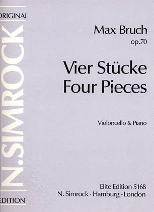 HAL LEONARD Bruch, M.: Four Pieces (Vier Stucke) (cello & piano)