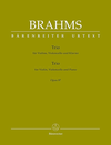 Barenreiter Brahms, J.: Trio in C, Op. 87 (violin, cello, piano) Barenreiter