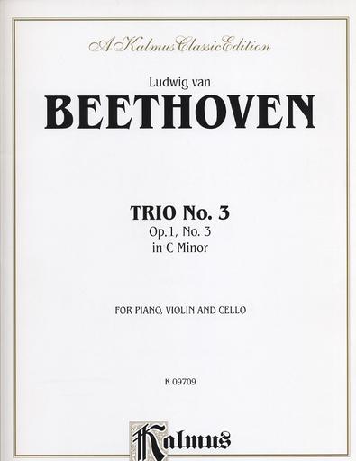 Alfred Music Beethoven, L.V.: Piano Trio in C minor Op.1, No.3 (piano, violin, and cello)