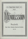 C.F. Peters Mendelssohn, Felix: Sextet in D Op.110 (piano, violin, 2 violas, cello, bass) Peters ed