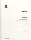 Carl Fischer Part, Arvo: Psalom (string quartet) score and parts