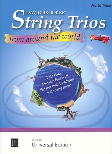 Carl Fischer Brooker: (collection) String Trios From Around The World - ARRANGED (violin, viola, & cello) Universal Edition