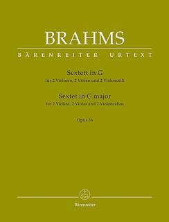Barenreiter Brahms (Hogwood): Sextet No.2 in G Major, Op.36 - URTEXT (string sextett) Barenreiter