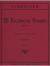 International Music Company Findeisen, T.A. (Zimmerman): 25 Technical Studies, Op.14 Volume 4 (bass)