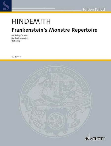HAL LEONARD Hindemith, Paul: Frankenstein's Monstre Repertoire (string quartet) score  and parts