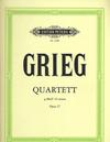 C.F. Peters Grieg, Edvard: String Quartet in g minor Op. 27 (set of parts)