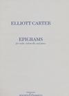 HAL LEONARD Carter, Elliot: Epigrams for violin, cello & piano