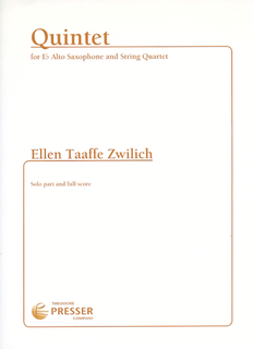 Carl Fischer Zwilich, Ellen Taaffe: Quintet for Eb Alto Saxophone and String Quartet (Solo part and full score)