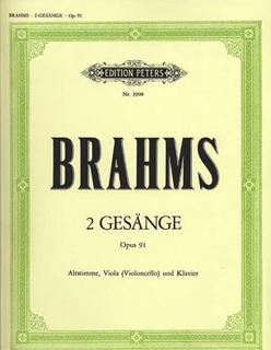 Brahms, Johannes: 2 Gesange Op.91 (alto voice, viola, piano)(alto voice, cello, piano)