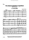 LudwigMasters O'Brien: (score/parts) Tres Danzas Populares Argentinas (cello quartet) Latham Music