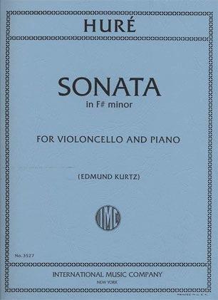 International Music Company Hure (Kurtz): Sonata in F# minor (cello & piano) International