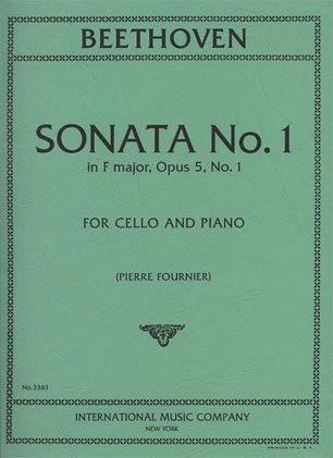 International Music Company Beethoven, L.van: Sonata No.1 in F major Op.5 #1 (cello & piano)