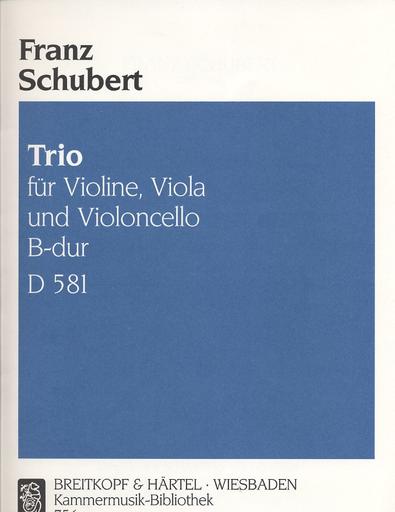 Schubert, Franz: Trio in Bb D581 (violin, viola, cello)
