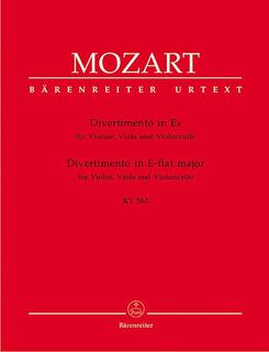 Barenreiter Mozart, W.A. (Berke): Divertimento in Eb Major K563 (violin, viola & cello) Barenreiter