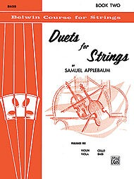 Alfred Music Applebaum, Samuel: Duets for Strings, Book Two (2 basses)