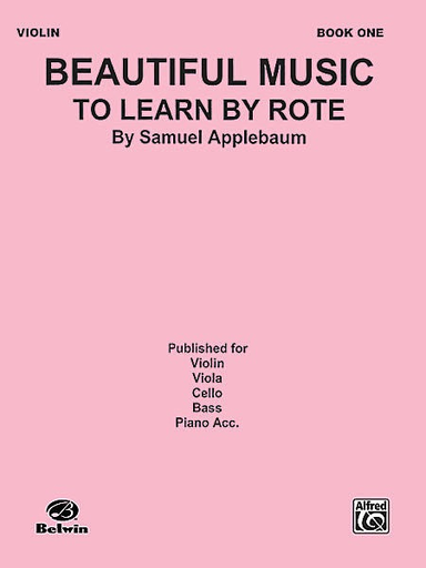 Alfred Music Applebaum: Beautiful Music to Learn by Rote Vol.1 (cello)