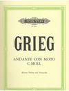 Grieg, Edvard: Andante con Moto in C minor (violin, cello & piano)