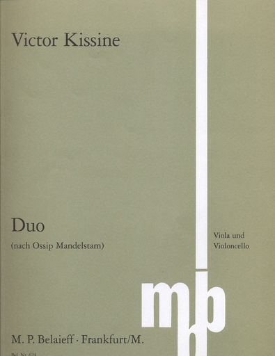 Kissine, Victor: Duo for Viola & Cello