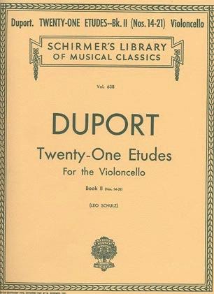 HAL LEONARD Duport, J.P.: 21 Etudes Bk.2 No. 14-21 (cello)