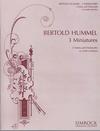 HAL LEONARD Hummel, Bertold: 3 Miniatures for (2 violins & cello) score & parts