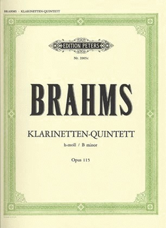 Brahms, Johannes: Clarinet Quintet Op. 115 in b minor (clarinet, 2 violins, viola, cello)