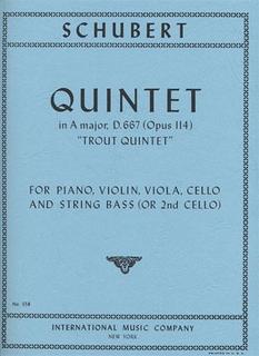 International Music Company Schubert, F.: Trout Quintet Op.114 (piano, violin, viola, cello, bass)