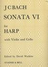 Edition Delrieu Bach, J.C.: Sonata No.6 for Harp, Violin & Cello