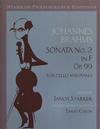 LudwigMasters Brahms, Johannes (Starker): Sonata No.2 Op.99 in F (cello & piano)