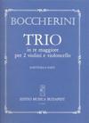 HAL LEONARD Boccherini, Luigi: String Trio in D (2 violins & cello) score & parts