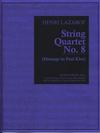 Carl Fischer Lazarof, Henri: String Quartet No. 8 (Homage to Paul Klee) score and parts