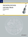HAL LEONARD Mendelssohn, F. (Mohrs /Birtel, ed.): Song Without Words, Op. 109 (cello or viola and piano)