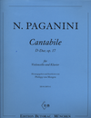 Edition Butorac Paganini, N.: Cantabile in D Major Op.17 (cello, and piano)