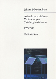 Bach, J.S. (Bartholdy): Aria from Goldberg Variations (violin, viola & cello, score)