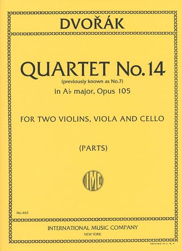 International Music Company Dvorak: String Quartet No.14 in Ab Major, Op.105 (string quartet)