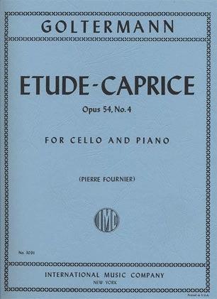 International Music Company Goltermann, Georg (Fournier): Etude-Caprice Op.54 #4 (cello & piano) IMC