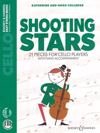 HAL LEONARD College: Shooting Stars, 21 Pieces for Cello Players (cello, piano, online audio) BH