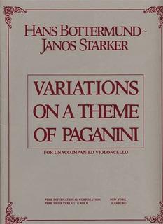HAL LEONARD Bottermund (Starker): Variations on a Theme of Paganini (cello & piano)