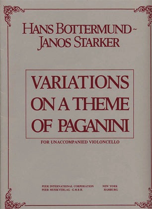HAL LEONARD Bottermund (Starker): Variations on a Theme of Paganini (cello & piano)