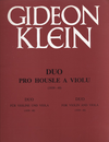 HAL LEONARD Klein, Gideon: Duo for Violin & Viola (1939-40)