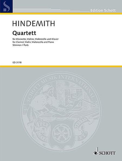 HAL LEONARD Hindemith, Paul: Quartet (1938) for clarinet, violin, cello and piano