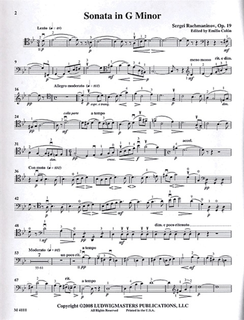LudwigMasters Rachmaninoff, Sergei (Colon): Sonata in G mi Op.19 (Cello & Piano)
