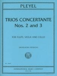 International Music Company Pleyel, Ignace: Trios Concertante Nos. 2 and 3 (flute, viola & cello) score & parts