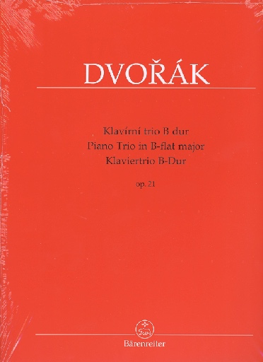 Barenreiter Dvorak, Antonin (Cubr): Piano Trio in Bb op.21 (violin, cello, piano) Barenreiter